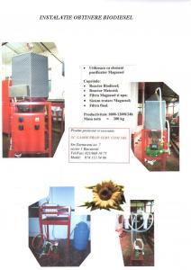 Instalatie de biodiesel