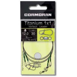 Struna Cormoran Titanium 1x1, 30cm, 12kg, 2buc