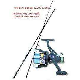 Combo Lanseta Carp Beater 3,60m/3lbs + Mulineta Free Carp