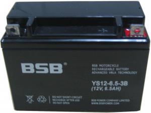 Baterie moto sigilata, 12V 6,5Ah CARANDA by BSB, YS-12-6,5-3B
