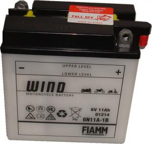 Baterie acumulator moto 6V 11Ah Caranda by FIAMM din gama WIND, 6N11A-1B