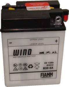 Baterie acumulator moto 6V 13Ah Caranda by FIAMM din gama WIND, B38-6A