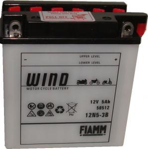 Baterie acumulator moto 12V 5Ah Caranda by FIAMM din gama WIND, 12N5-3B