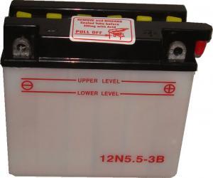 Baterie acumulator moto 12V 5,5Ah Caranda by FIAMM din gama WIND, 12N5,5-3B