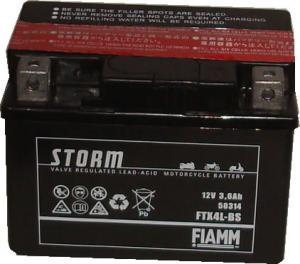 Baterie acumulator moto 12V 3,6Ah Caranda by FIAMM din gama STORM, FTX4L-BS