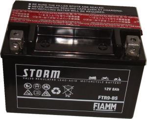 Baterie acumulator moto 12V 8Ah Caranda by FIAMM din gama STORM, FTR9_BS