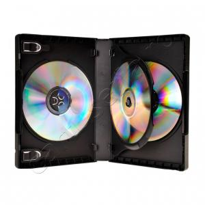 Set 10 carcase DVD plastic - stocare multipla