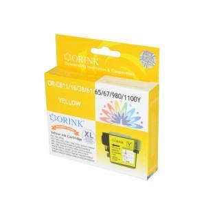 Cartus compatibil pentru Brother LC1100 LC980 LC61 Yellow
