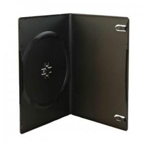 Carcasa Slim plastic neagra pentru DVD 7 mm