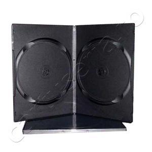 Set 10 carcase duble Slim plastic neagra pentru DVD 9 mm