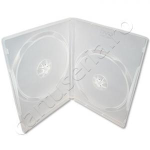 Carcase duble DVD 14 mm neagra sau transparenta