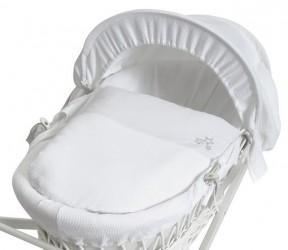 Baroo Cos bebe My Little Stars White Wicker+White Waffle