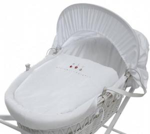 Baroo Cos bebe ABC White Wicker