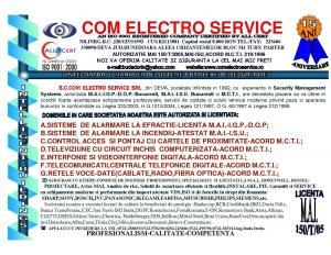 Servicii sisteme electrice securitate