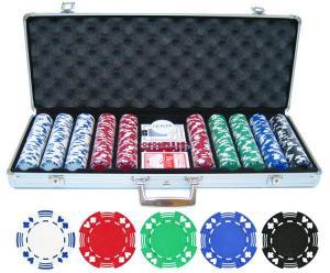 Set de poker Dealer cu 500 de jetoane