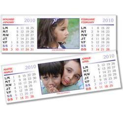 Calendar de birou personalizat (10 x 30 cm) CLP05