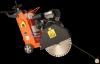 Masina de taiat beton / asfalt bisonte mta501-h, tip motor honda