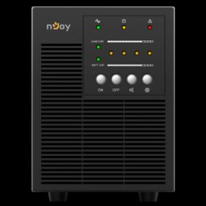 UPS 1 kVA nJoy Echo 1000, On-line, baterie inclusa, monofazat, Iesire sinusoidala pura
