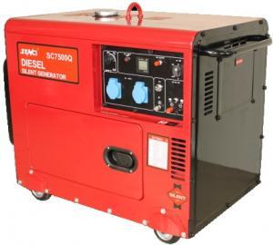 Generator curent electric Senci SC-7500Q, 6 kVA, motorina, monofazat, cu automatizare si AVR incluse