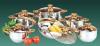 Set oale inox 12 piese - capac sticla baza tripla -
