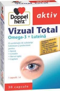 DoppelHerz aktiv Vizual Total Omega-3 + Luteina