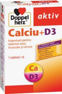 DoppelHerz aktiv Calciu + D3 cu Vitamina C si K x 30 tablete