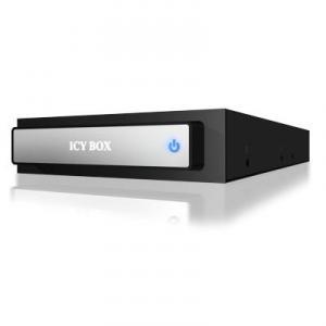 Docking Station 3.5inch RaidSonic Icy Box IB-290StUSD-B pentru harddisk-uri SATA 2.5inch - USB 2.0 eSATA - Aluminium