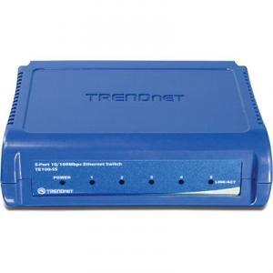 Switch 5 porturi 10/100TX TRENDnet TE100-S5 Unmanaged