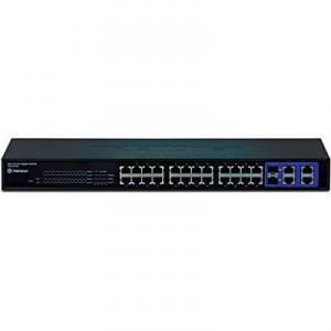 Switch 24 porturi 10/100 TRENDnet TEG-424WS Web Smart 4 GigaBit