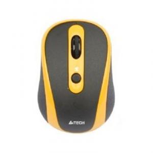 Mouse A4Tech G9-250 GlassRun 2.4G Wireless Optical USB Black / Orange