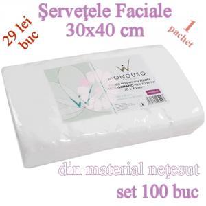 Servetele Faciale din netesut 30x40cm set 100buc