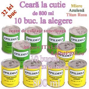 10 BUC Ceara epilat de unica folosinta la cutie metalica de 800 ml
