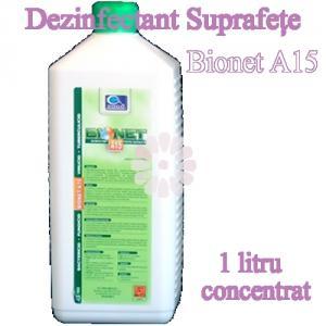 Bionet A15 - dezinfectant suprafete 1litru concentrat