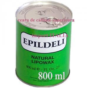 Ceara epilat cu Azulena de unica folosinta la cutie metalica de 800 ml