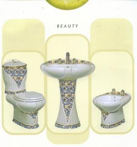Obiecte sanitare din ceramica maro