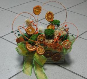 Aranjamente din flori naturale uscate