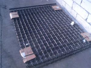 Site (plase) impletite din sarma de otel arc pentru balastiere