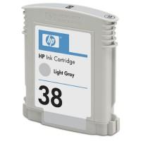 HP 38 Light Grey Pigment Ink Cartridge with Vivera Ink