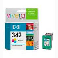 HP 342 Tri-colour Inkjet Print Cartridge with Vivera Inks
