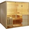 Sauna cu front integral din sticla securit