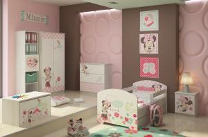 Camera pentru copii Minnie Mouse Alb