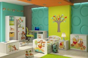 Camera pentru copii Winnie the Pooh Alb
