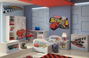 Camera pentru copii Cars Racing Alb
