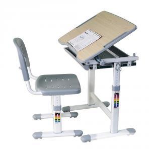 Birou reglabil cu scaunel reglabil cu sertar Picolo - GRI