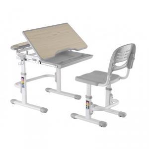 Birou reglabil cu scaunel reglabil cu sertar Soriso - GRI