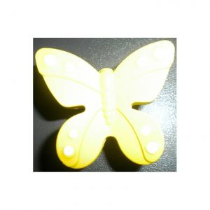 Buton fluture galben