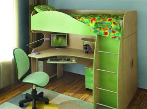 Mobila copii pat birou