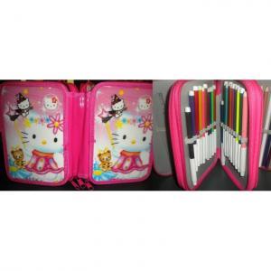Penar copii Hello Kitty echipat cu 3 compartimente