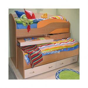 Paturi copii supraetajate Multicolor