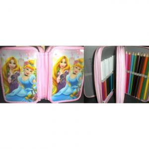Penar copii Cenusareasa si Rapunzel echipat cu 3 compartimente